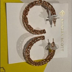Kendra Scott Rose Gold Hoop Earrings